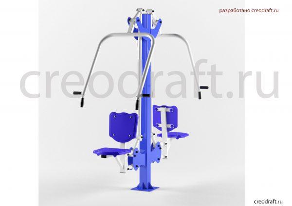 Визуализация 3д модели уличного тренажера